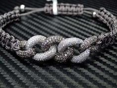 Shamballa diamond bracelet