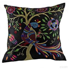 2 please  Wedding - Embroidered Peacock Pillow | SERRV