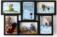 """Glass Storybook Painting: """"Winnie the Pooh"""" $150.00 www.etsy.com/listing/179717925/glass-storybook-painting-winnie-the-pooh?"""