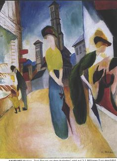 Making Money With Consignment Stores.  Women shopping, art by August Macke.  I like these paintings.