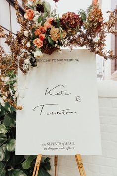 Romantic Wedding With A Muted Colour Palette - Polka Dot Bride #weddingsign #weddingceremonydecor #weddingdecorideas