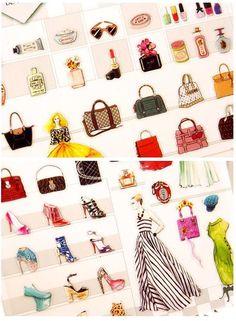 High fashion shopping list sticker Luxury bags by StickersKingdom