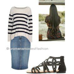 Follow me on Polyvore for more Pentecostal fashion @womensmodestfashion