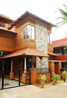 House design - Centre for Vernacular Architecture Trust Gallery Indian Home Design, Kerala House Design, Brick Architecture, Vernacular Architecture, Kerala Architecture, Chettinad House, Kerala Traditional House, Village House Design, Kerala Houses