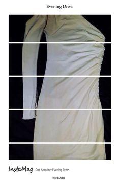 One Shoulder Evening #Dress