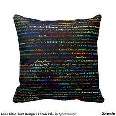 Lake Elmo Text Design I Throw Pillow