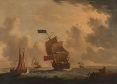 Francis SWAINE (Londres 1725 - 1782) Navires anglais près de la côte Toile 84,5 x 117 cm Signé en bas à droite F.SWAINE Provenance: Acquis chez Rupert Preston en 1966. Exposition: Seascape Paintings by… - Drouot & ses opérateurs - 12/11/2015