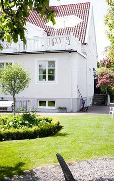 Baksidan på det vackra huset