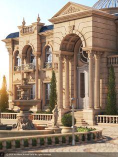 10 Rumah Mewah Klasik Eropa Ideas | Classic House Design, Classic House  Exterior, Classic House
