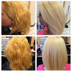 Check out this awesome transformation! From a brassy orange box color blond to a gorgeous Ash using Blondor and an Ash Violet toner. Wella Toner, Hair Toner, Toner For Orange Hair, Beauty Tips, Beauty Hacks, Hair Affair, Hair Dye, Hair Ideas, Blonde Hair