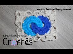 Square crochet with rings in video tutorial - Crochet Works