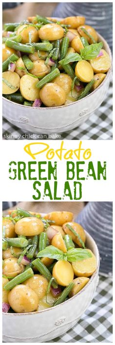 Potato and Green Bean Salad with Dijon Vinaigrette | A fabulous alternative to mayo based potato salad! @lizzydo
