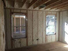 Master Bedroom.  All spray foam and sound batts insulation has been installed!