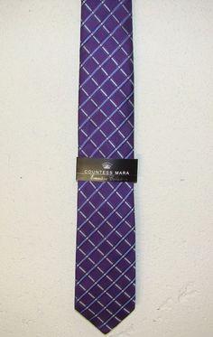 New Countess Mara Exective Collection Mens Purple Silk Neck Necktie Tie 58in NWT #CountessMara #Tie