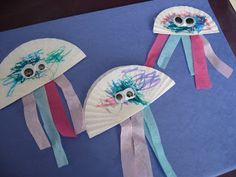 Jellyfish Craft - No Time For Flash Cards do with coffee filters or paper plates