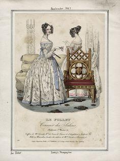 Lady's Magazine - Le Follet September 1837 LAPL