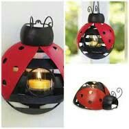Ladybug Votive Holder 3 ways: wall sconce, hanging (chain included), table top. Candle Accessories, Decorative Accessories, Super Petite, Garden Ornaments, Christmas Ornaments, Partylite, Holiday Fun, Holiday Decor, Votive Holder
