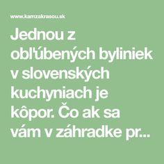 Jednou z obľúbených byliniek v slovenských kuchyniach je kôpor. Čo ak sa vám v záhradke premnožil? Povieme vám, ako skladovať kôpor rôznymi spôsobmi! Math Equations