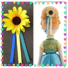 Frozen-Fever-Princess-Anna-Inspired-Sunflower-Hair-Clip- Made for Adrianna's 1st birthday party.