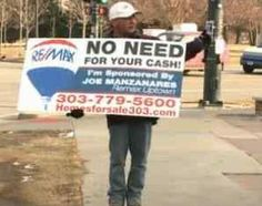 A Win-Win: Realtor Hires Panhandler to Hold a Different Sign