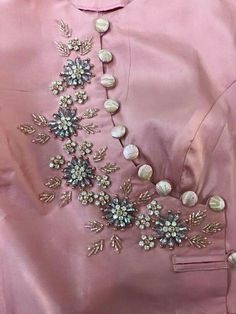Best 12 For details ping WhatsApp messenger 09947840682 Different colours are available – SkillOfKing. Embroidery On Kurtis, Hand Embroidery Dress, Kurti Embroidery Design, Embroidery Neck Designs, Bead Embroidery Patterns, Embroidery On Clothes, Couture Embroidery, Embroidery Fashion, Embroidery Jewelry
