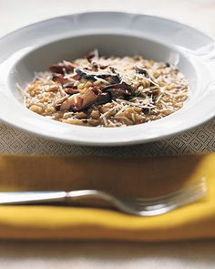 Wild-mushroom risotto has a delicate taste when made with fresh mushrooms, and a rich, wintry flavor if you combine fresh and dried.