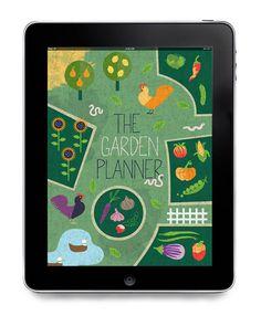 Graphic design work for iPad app the Garden Planner by Eirian Chapman.