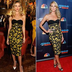 ROSIE VS. HEIDI Rosie Huntington-Whiteley y Heidi Klum eligieron este vestido estampado de la colección Pre-Otoño 2013 de Michael Kors. Pri...
