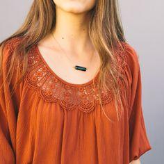 Onyx Stone Necklace/ www.nectarclothing.com