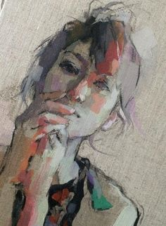 Izumi Kogahara- wish I could sketch and paint loosely like this. Love the large weave canvas