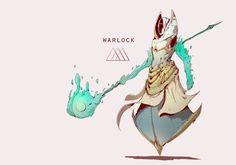 Warlock Redesign, Jeff Hong on ArtStation at https://www.artstation.com/artwork/Bvm5z
