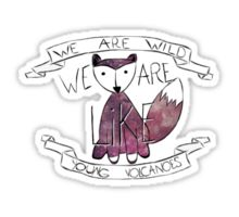 Young Volcanoes Space Fox Sticker