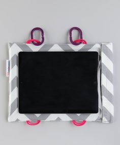 Perfect for your ipad or kindle fire on those long car trips! Silver Chevron Tablet Case by Car Seat Cinema Sewing Patterns Free, Sewing Tutorials, Sewing Crafts, Fabric Crafts, Crafty Projects, Sewing Projects, Sewing For Kids, Baby Sewing, Sewing A Button
