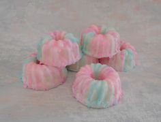 Cotton Candy Soap - Birthday Party Favor - Bundt Cake Soap - Cake Soap - Homemade Soap - Faux Food Soap - Glycerin Soap - Bakery Soap Gift by CindysBathCreations on Etsy