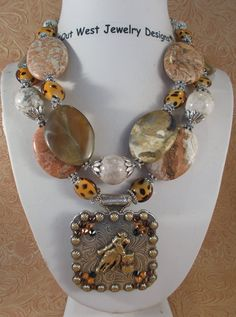 Cowgirl Necklace Set  Chunky Golden Brown by Outwestjewelry