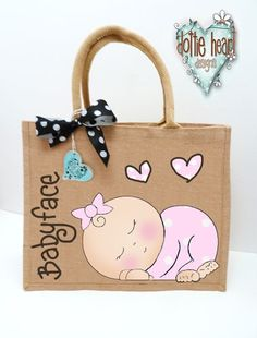 jute bags with personalised hand painting - Google Search