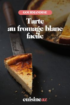 La tarte au fromage blanc facile a pour base une pâte feuilletée. #recette#cuisine#tarte #fromageblanc#patisserie Good Food, Desserts, Salty Tart, Torte, Food Porn, Meal, Tailgate Desserts, Deserts, Postres
