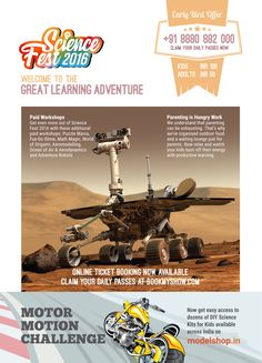 This is an event organized by Science Enthusiasts with Non-Commercial intentions for promoting learning, they are planning to execute the event in a unique way with lots of knowledge and learning combined with fun and entertainment. For More info visit- http://sciencefest.in/