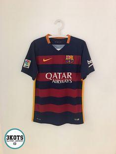 3dcf71c425e BARCELONA FC 2015 16 Home Football Shirt (S) Soccer Jersey NIKE Vintage  Maglia