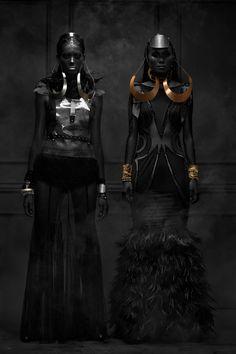 Blanc Magazine May 2013 by Jan Gonzales, via Behance #fashion #editorial #black #dark #fashion #gold #bronze