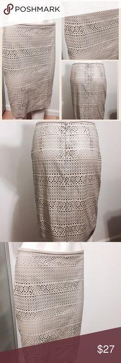 Calvin Klein Laser Cut Skirt Beautiful pencil skirt with laser cut design. Invisible zipper on the back. Calvin Klein Skirts