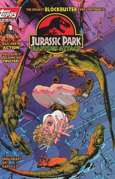 Robert Muldoon returns, somehow, while Grant and Sattler are held captive by a Colombian drug lord in the second arc of Jurassic Park: Raptor. Jurassic World, New Jurassic Park, Jurassic Park Raptor, Jurassic Park Trilogy, Michael Crichton, Comic Book Artists, Comic Artist, Legos, Thriller