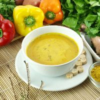 Preparing Vegetable soup in 5 minutes! Quick Recipes, Soup Recipes, Whole Food Recipes, Chicken Recipes, Healthy Recipes, Chicken Vegetable Curry, Chowder Soup, Crock Pot Soup, One Pan Meals