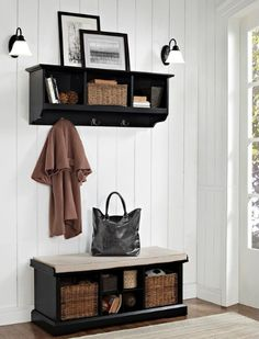 An entryway bench is a great solution for shoe storage #shopko
