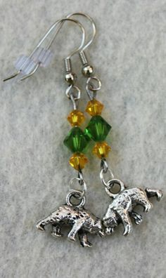 Green & Gold + Bears = #SicEm // #Baylor earrings