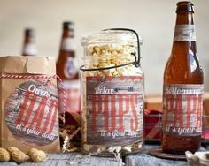 Great selection of DIY Father's Day gift ideas! The labels print perfectly on Avery full-sheet labels.