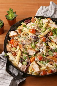 Our big fat Greek pasta.  Get the recipe fromDelish.