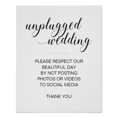 #Unplugged Wedding N
