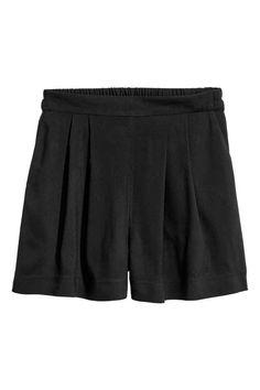 Pantalón corto holgado - Negro - MUJER   H&M ES