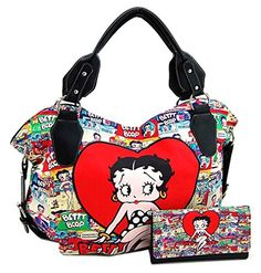 Betty Boop Large Purse Wallet Set, Red Heart (Pack of Large Purses, Large Bags, Betty Boop Purses, Structured Bag, Buy Bags, Large Handbags, Cheap Bags, Fashion Bags, Women's Fashion